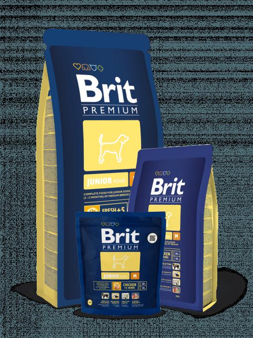 Brit Premium Junior M este o hrana completa premium pentru caini tineri de talie medie