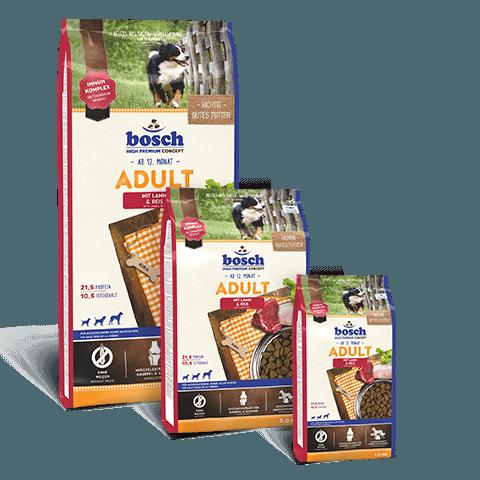 Hrana-caini-bosch-premium-adult-miel-orez