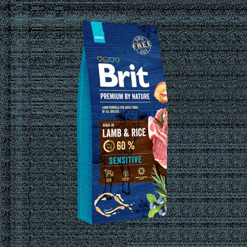 hrana caini brit premium by nature miel si orez lamb and rice 15 kg