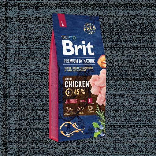 hrana caini brit premium junior l by nature 15 kg