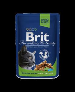 mancare umeda pisici brit premium pentru pisici sterilizate