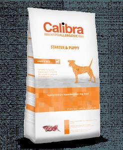 hrana uscata caini Calibra Starter and Puppy cu miel si orez