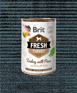 coonserva pentru caini Brit Fresh curcan si mazare