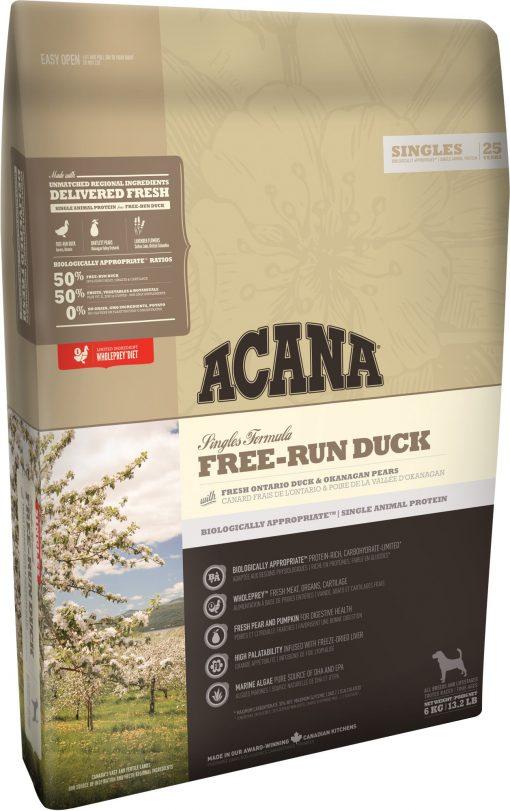 Hrana caini Acana Free Run Duck 11,4 kg singura sursa de proteine rata