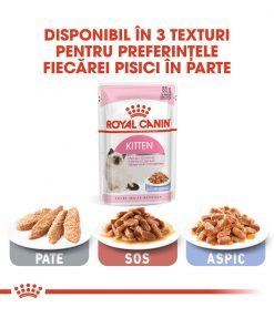 hrana umeda pisici royal canin kitten instinctive jelly