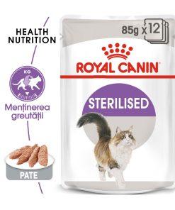 hrana umeda pisici royal cainin sterilised loaf pate
