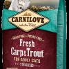 hrana uscata pisici sterilizate carnilove crap si pastrav
