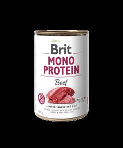 conserva Brit Mono protein beef cu carne de vita singura sursa de proteine vita