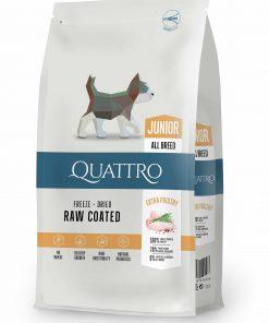 hrana caini Quattro Junior all breed extra poultry cu carne de pui pentru caini juniori