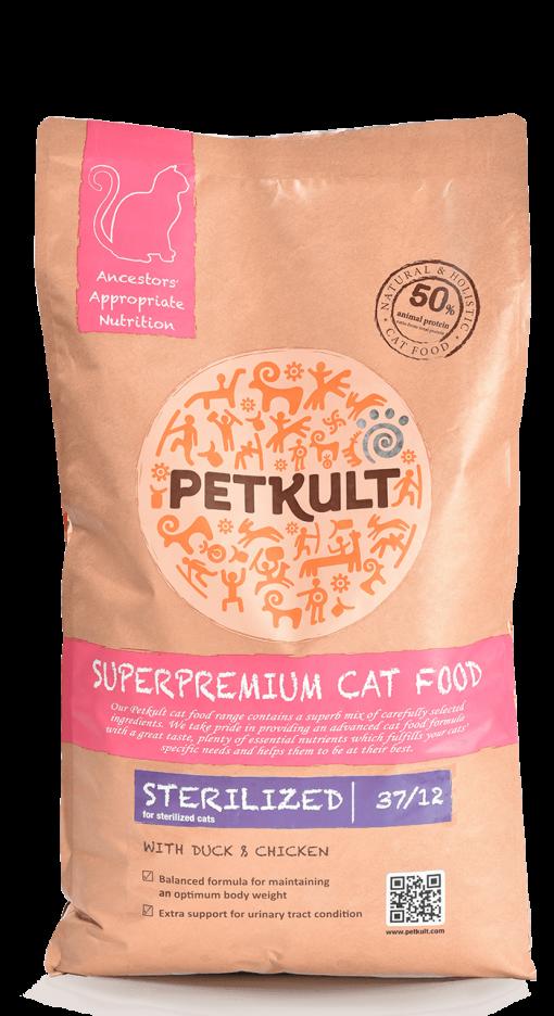 hrana pisici Petkult Cat Sterilized cu Rata