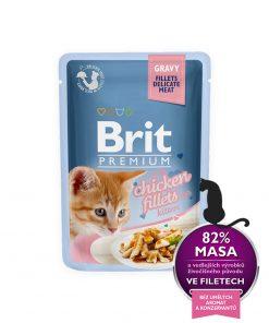 Brit Premium Cat Delicate Chicken in Gravy for Kitten