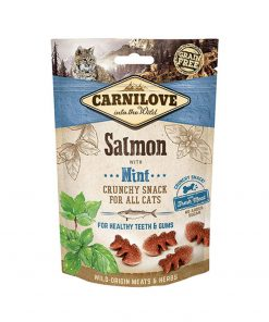 Recompense pisici Carnilove Cat Crunchy Snack Salmon with Mint