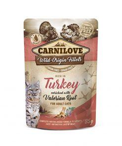 Hrana umeda pisici Carnilove Cat Pouch Rich in Turkey with Valerian