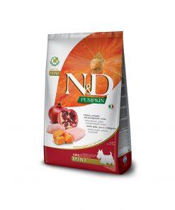 Hrana uscata caini N & D Pumpkin Chicken and Pomegranate Adult Mini
