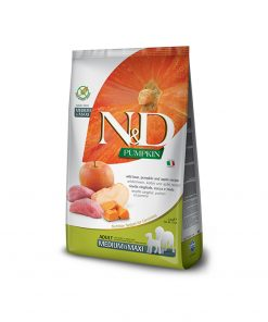 Hrana uscaata caini N & D Pumpkin Boar and Apple Adult Medium and Maxi