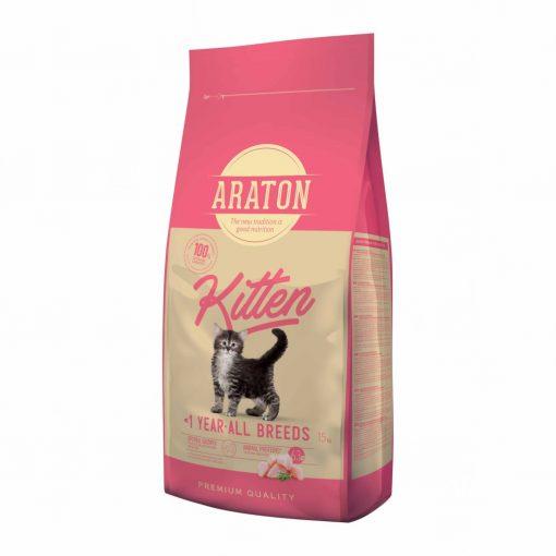 Hrana uscata pentru pisici juniori Araton Cat Kitten