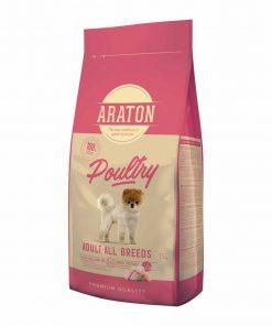Hrana uscata caini Araton Dog Adult Mini & Medium Poultry