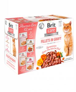 Hrana umeda pisici Brit Care Cat Flavour Box Fillet in Gravy