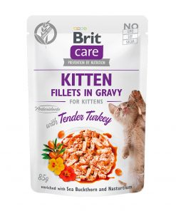 Hrana umeda pisici Brit Care Cat Kitten Fillets in Gravy With Tender Turkey