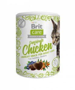 Recompense Pisici Brit Care Cat Snack Superfruits Chicken