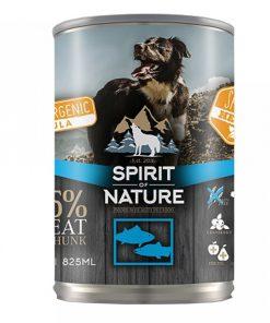 Hrana umeda caini Spirit of Nature Conserva cu Ton si Somon Dog