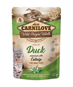 hrana umeda pisici carnilove duck with catnip