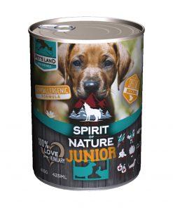 Spirit of Nature Dog Junior cu Miel si Iepure