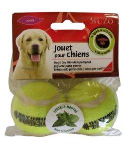 jucarie minge tenis pentru caini mentolat