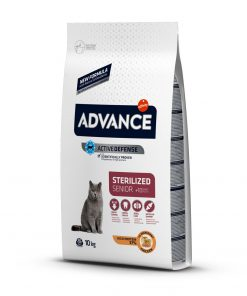 hrana uscata pisici advance cat sterilized senior pentru pisici sterilizate peste 10 ani