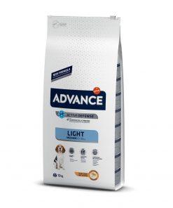 hrana uscata caini advance medium light pentru caini de talie medie
