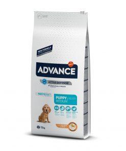 hrana uscata caini advance medium puppy pentru caini junior de talie medie 12 kg