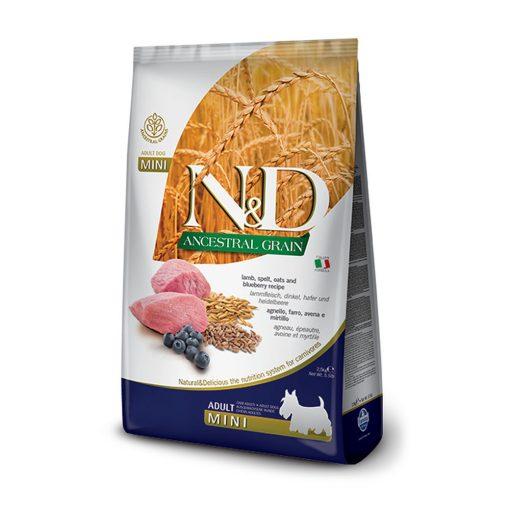 hrana caini N&D ancestral grain miel si afine