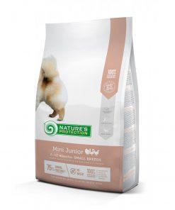 hrana caini Natures Protection Mini Junior pentru caini de talie mica